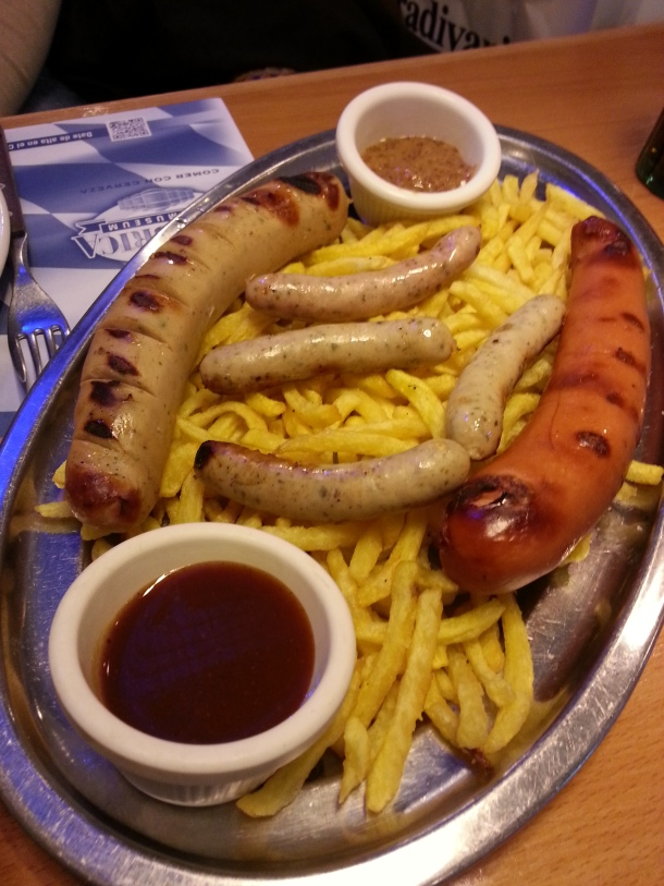Bratwurst, bockwurst y nürnberger