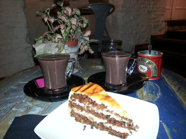 Chocolates con avellana y tarta de zanahoria