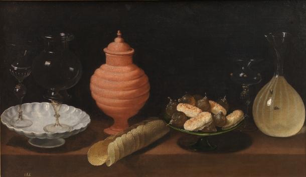 Bodegón con dulces y recipientes de cristal de Van Der Hamen