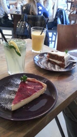 Tartas y bebidas
